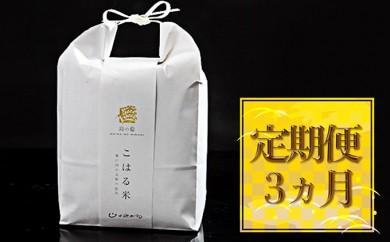 [№5796-0491]【定期便3ヵ月】島の稔 こはる米 2kg(有機無農薬栽培)