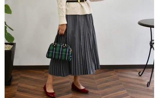 人気のクラシックバッグをPAGOTオリジナルデザインの播州織で作ってみました。