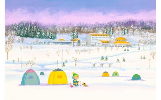 宿泊温泉施設「レークサイド桜岡」です。日帰り入浴も可。豊かな湖畔の傍で夏はキャンプにパークゴルフ、冬はワカサギ釣りができます