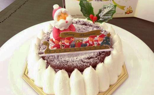 F-10 【クリスマスケーキ】*低糖質ガトーショコラホール