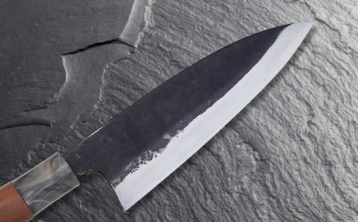 【土佐打刃物】黒打ち舟行型万能包丁5寸(白鋼)