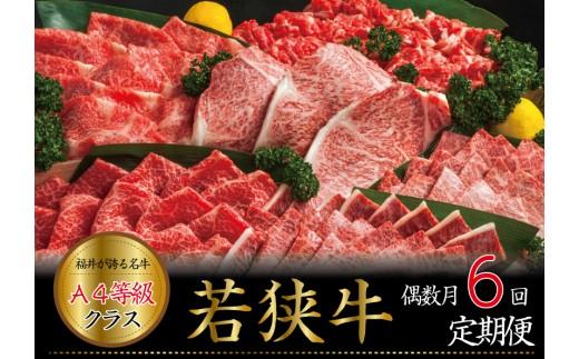 [J-3209] 【偶数月定期便 6回コース】 大満足 若狭牛三昧 定期便!!