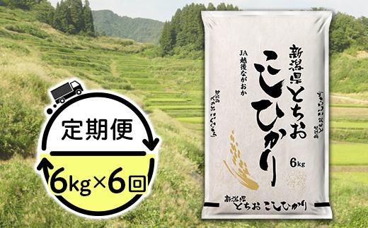 【6ヶ月連続お届け】新潟県長岡産コシヒカリ(栃尾地域)6kg