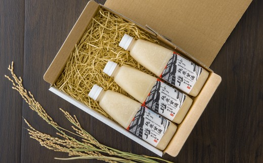 北上産米使用 純米甘酒 500㎖×3本