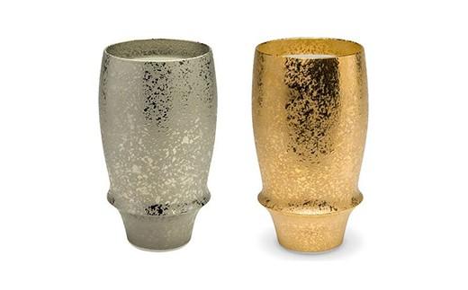 FS19020 「ビールをもっと美味しく飲める有田焼」キレを高めるビアグラス金銀ペア