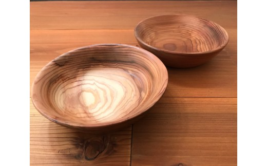 No.098 山武杉のおつまみ皿ペアセット / 食器 天然木 サンブスギ 千葉県 特産品