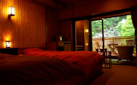 [№5659-1107]早太郎温泉「二人静」別邸一花一葉<擬洋室> 2名様宿泊券