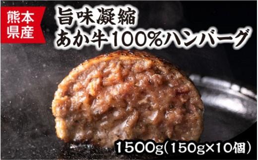 【熊本名物】健康あか牛 ハンバーグステーキ150g×10個