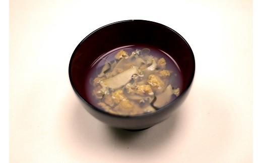 種市産のウニとアワビを使った贅沢なお吸い物「いちご煮」