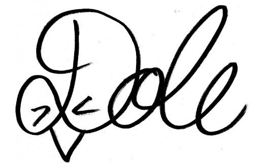 北海道コンサドーレ札幌のクラブマスコット「ドーレくん」のサイン