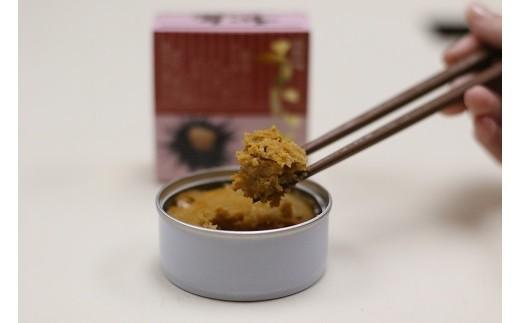 新鮮な種市産のウニを蒸しあげた高級珍味「うに缶」(蒸しうに)