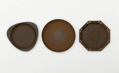 鉄皿3種セット『月』『菊』『八角』