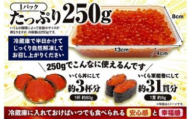 いくら醤油漬 (鱒卵)【500g(250g×2)】-