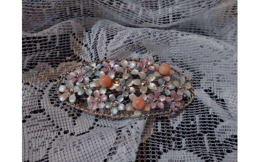 海の秘宝珊瑚:髪留めC