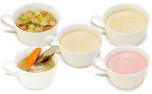 【温スープ】400年の歴史がある木曽赤かぶ、松本一本ねぎなどを使用し、塩尻をより感じられるスープになっています。