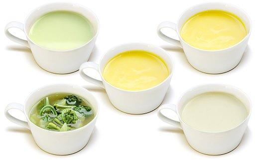 【活スープ】塩尻の厳しい寒さに耐えて育った甘味の強いニンジンや、アスパラ、キャベツ、山菜で春を感じられる一品となっています。