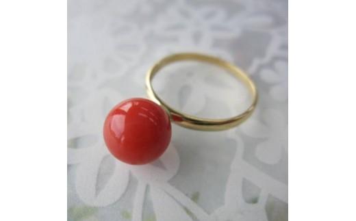 珊瑚職人館の珊瑚の指輪10