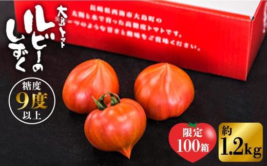 【限定100箱】糖度9度以上!究極のトマト「ルビーのしずく」1.2kg<大島造船所農産G> [CCK016]