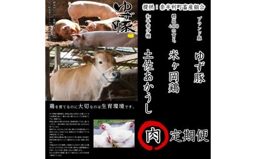 牛豚鶏の共演 奈半利の肉12ヶ月定期便A【A39001】