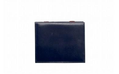 札ばさみ/コインケース 豊岡財布 TRV0106W-50(ネイビー)