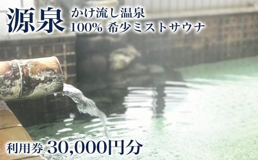 沢内バーデン 利用券 30,000円分