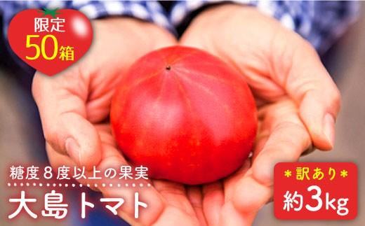 【限定50箱】『訳あり』大島トマト(3kg)<大島造船所農産G> [CCK007]