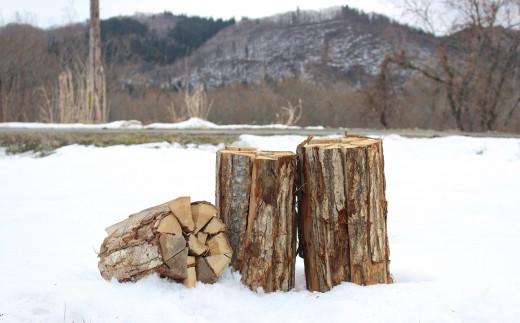 西和賀町をはじめ、岩手の山々から切り出したナラの薪