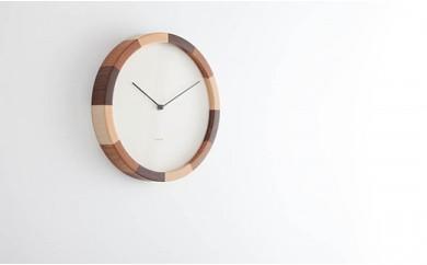 箱根の寄せ木技術で作った壁掛け時計(ラウンドトリコ)