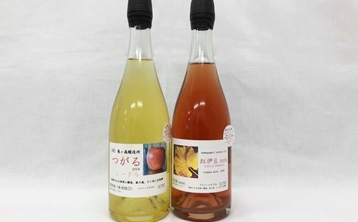 シードル「つがる」・ワイン紅伊豆mix(発泡)750ml2本セット 【588】