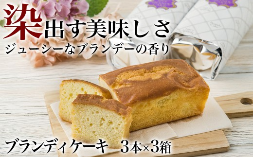 ブランディケーキ 3本入×3箱