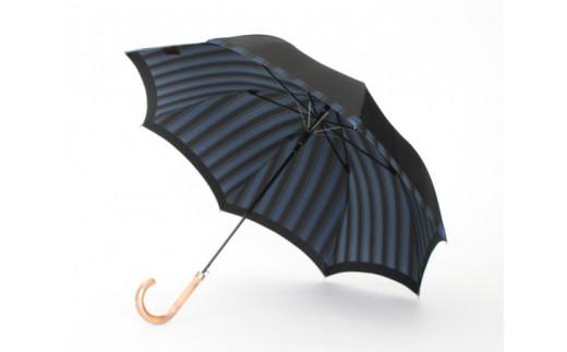 No.060 【表無地・裏ストライプ】 紳士長傘 Tie / 雨具 雨傘 オシャレ 山梨県