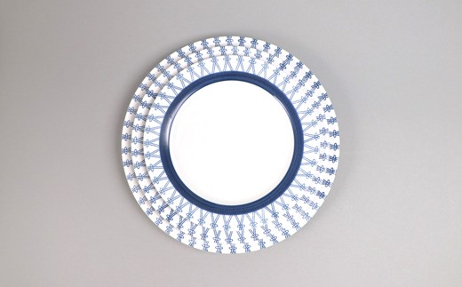 サイズは18cm、21cm、24cmの全3種類。このお礼の品は21cmのお皿2枚です。