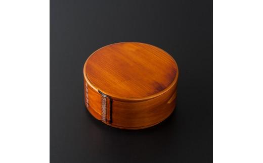 摺り漆塗り丸形弁当箱(大)
