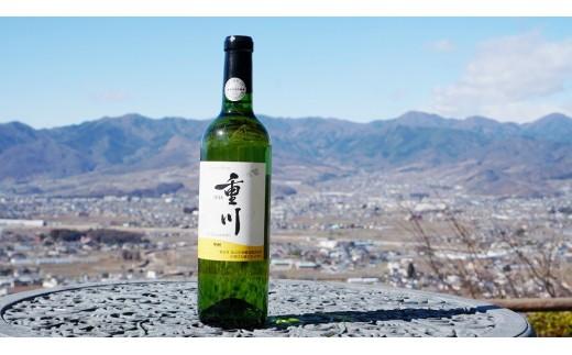 B-663.【甲州市原産地呼称ワイン】重川 甲州2018 辛口・白1本