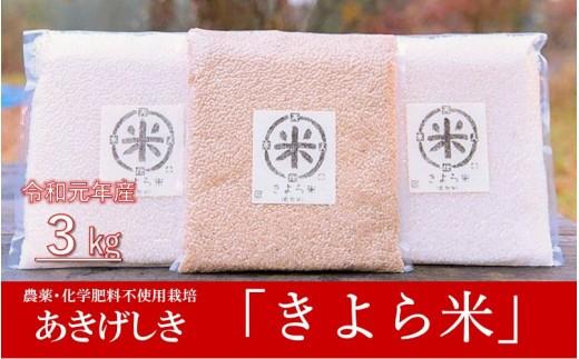 【令和元年産】美味しさそのまま真空でお届け! きよら米 3kg