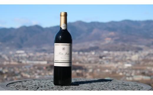 D-621.【甲州市原産地呼称ワイン】トロワジョア2017 赤ミディアムボディ1本