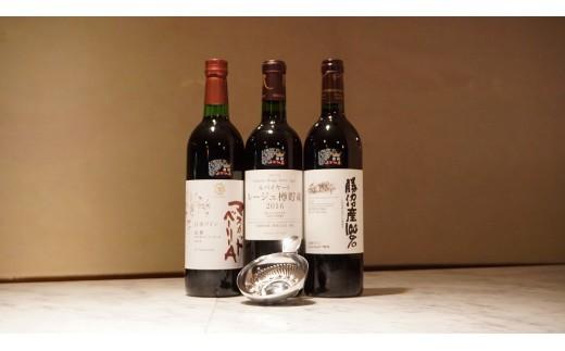 D-616.勝沼ぶどうの丘推奨赤ワイン3本+タートヴァン