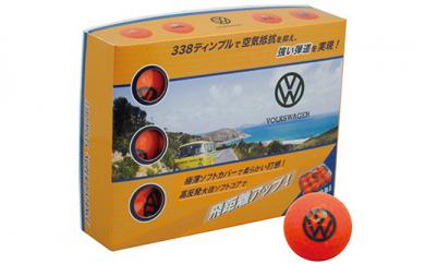 フォルクスワーゲン ゴルフボール(オレンジ)3ダース