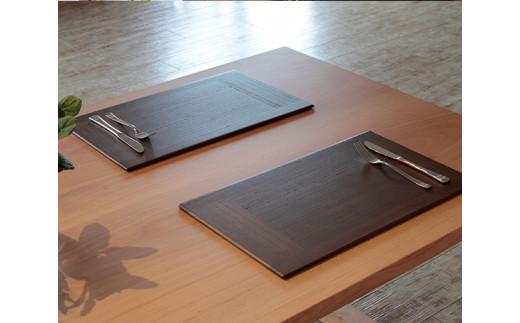 No.184 【ブラウン2枚組】KIRI Place Mat / ランチョンマット プレースマット 敷物 木製 桐 天然木 新潟県