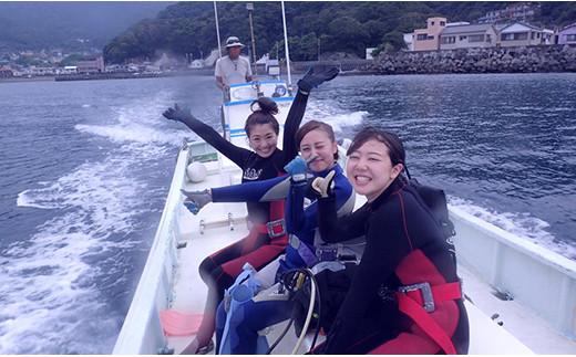 田子シーランドのカップル!親子!2名で体験ダイビング!