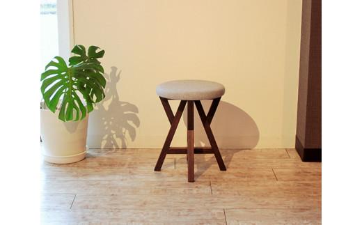 No.186 【BR×GR】KIRI branch stool / 椅子 スツール 木製 桐 軽量 インテリア 新潟県