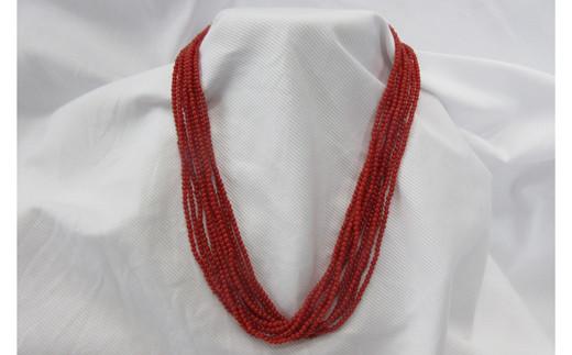 赤小玉10連ネックレス