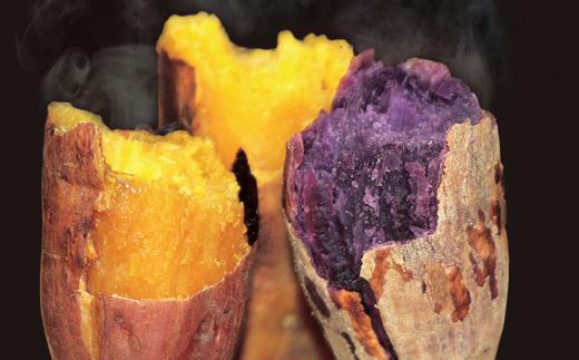 【安納いも】カロチン豊富で濃厚な甘さが特徴です!【紫いも】控えめな甘さでアントシアニンが摂れると言われております。