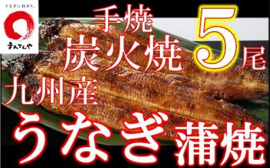 FY10-30 九州産手焼き炭火うなぎ蒲焼5尾(1尾あたり120~149g)