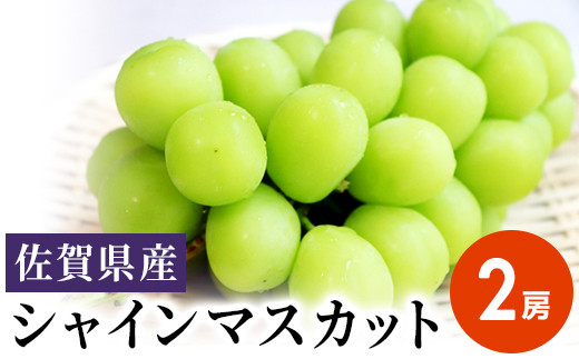 佐賀県産シャインマスカット 2房(1~1.2kg)