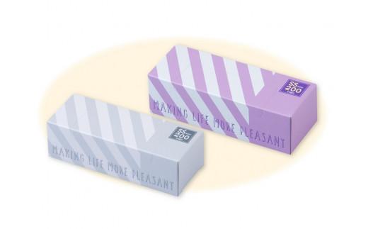 【A8202】驚異の防臭袋BOSストライプパッケージホワイト&ラベンダー