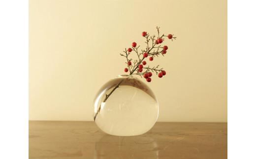 No.108 みずのうつわ(花器)小サイズ / 花瓶 吹き ガラス オシャレ 工芸 シンプル 千葉県 特産品