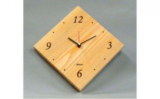 [№5221-0018]西川材 ひし形掛け時計