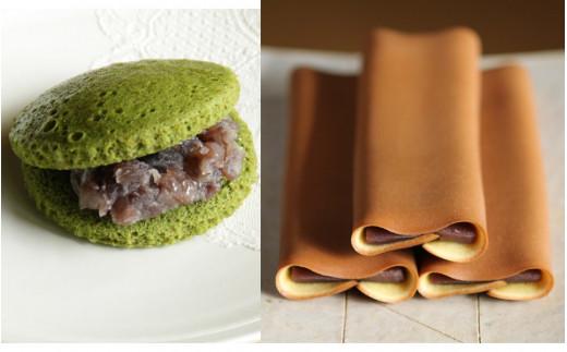 津和野名物源氏巻とむしどら抹茶を含む和菓子セット