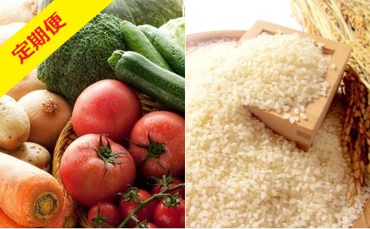 【3か月定期便】津軽のお米5kgと季節の野菜・果物詰合せ 【02387-0009】